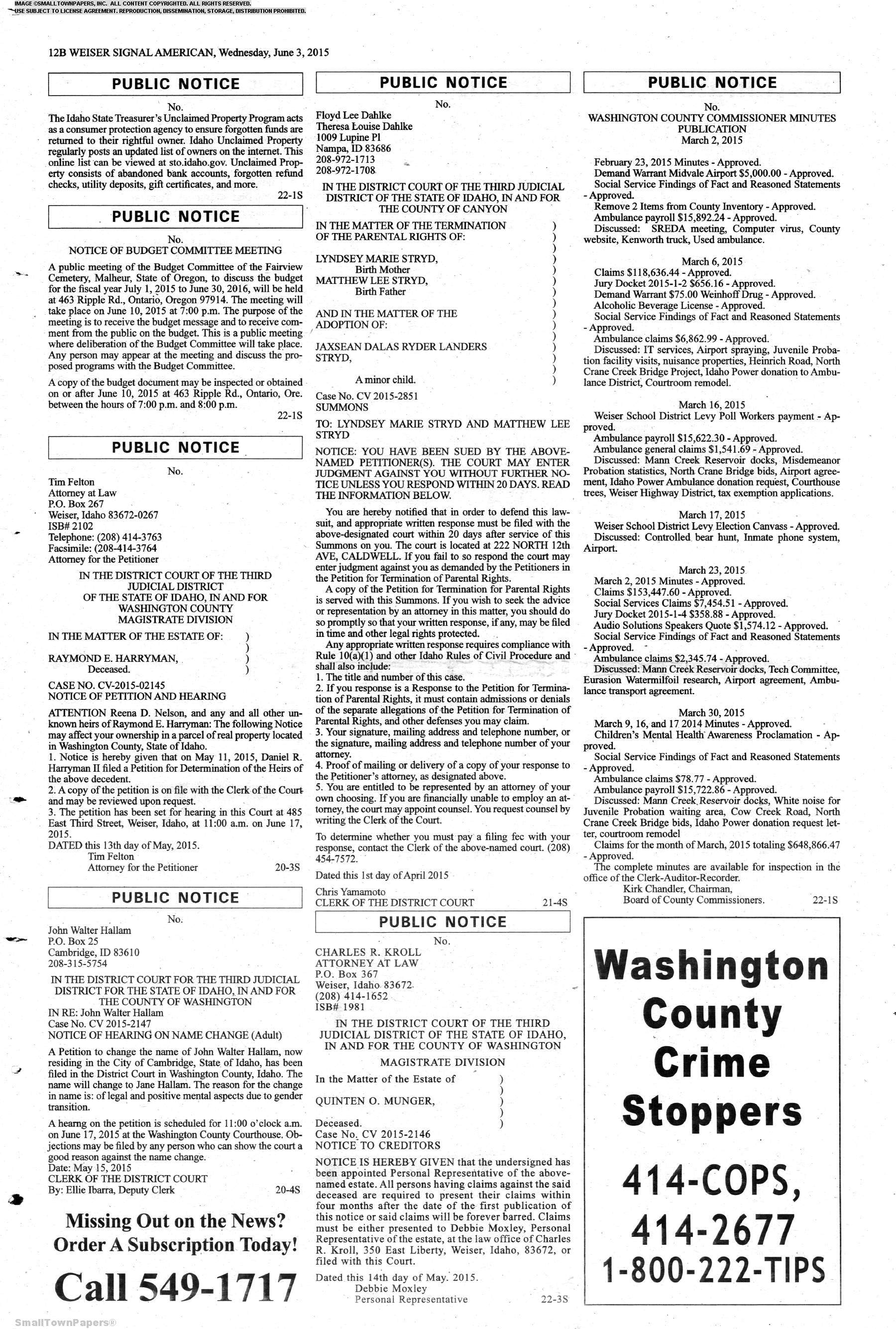 Weiser Signal American June 3 2015 Page 24